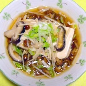 きのこあんかけ豆腐