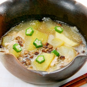 きのことユーゴのひんやりスープ仕立て