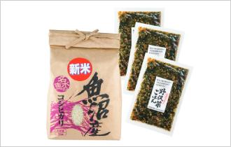 魚沼産コシヒカリとご飯の素セット
